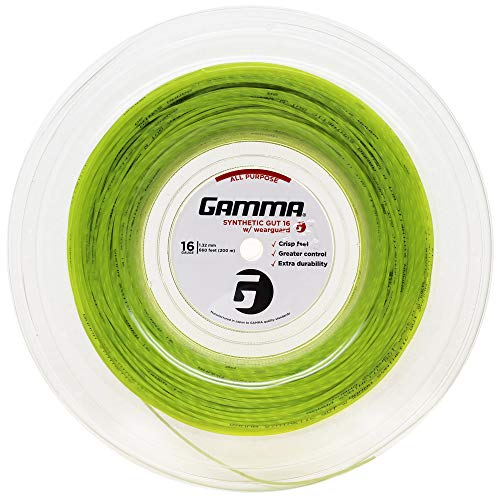 Gamma Sports Synthetic Gut w/Wearguard 16g String Reel - Yellow