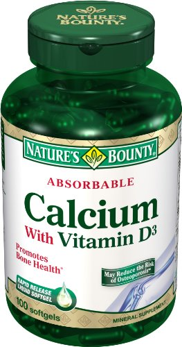 Natures Bounty Calcium Absorbable Softgels
