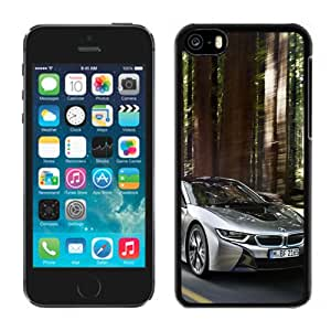 NEW DIY Unique Designed iPhone 5C Generation Phone Case For 2015 BMW i8 Silver Phone Case Cover