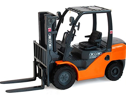 Damara Forklift Truck Toys With Tow-Coupling,Orange