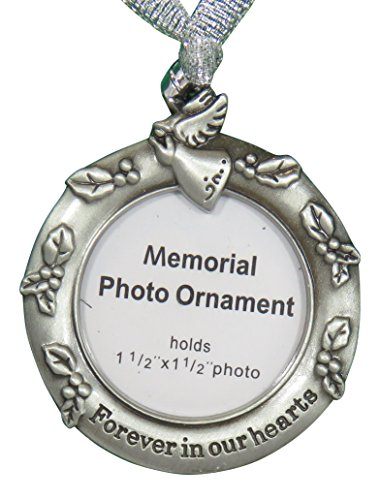 Ganz Remembrance Memorial Photo Ornament (Forever In Our Hearts)