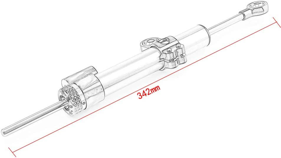 pour CBR650F 900 ZX6R Z1000sx Ninja 400 Triumph Tiger 800 QQJK Stabilisateur r/églable damortisseur de Direction de Moto