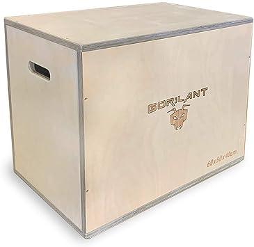 Gorilant - Cajon Pliometrico Madera de Abedul BB, Entrenamiento Crossfit, Plyo Box, cajón para Saltos, tamaño S, M, L (Cajon L 76x60x50): Amazon.es: Deportes y aire libre