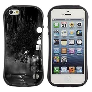 Suave TPU GEL Carcasa Funda Silicona Blando Estuche Caso de protección (para) Apple Iphone 5 / 5S / CECELL Phone case / / Lamp Black White Photo Night /