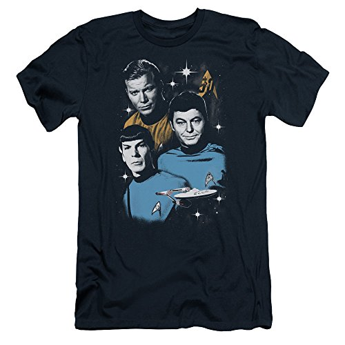 Star Trek 50th Anniversary All Star Crew T-Shirt Navy XL