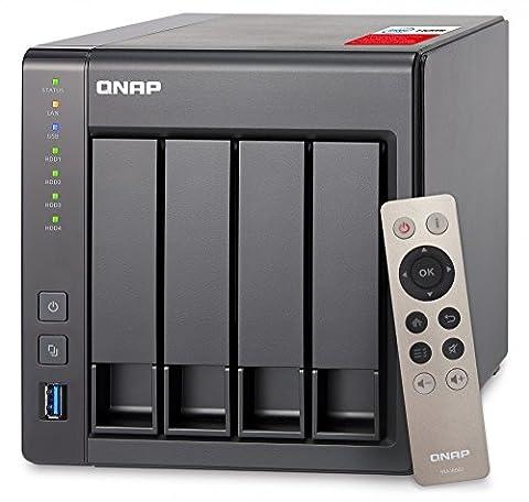 QNAP TS-451+ 4-Bay Next Gen Personal Cloud NAS, Intel 2.0GHz Quad-Core CPU with Media Transcoding (Qnap Ts 451 Us)