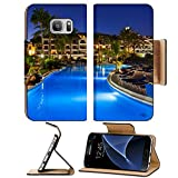 Liili Premium Samsung Galaxy S7 Flip Pu Leather Wallet Case Swimming pool at night vacation background IMAGE ID 31750094