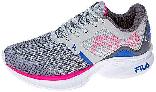 Tênis Racer Move, FILA, Feminino, PRATA/ROSA FLUOR/AZUL, 36