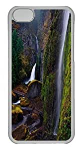 iPhone 5C Case and Cover -Wahclella Falls PC Case Cover for iPhone 5C and iPhone 5C Transparent
