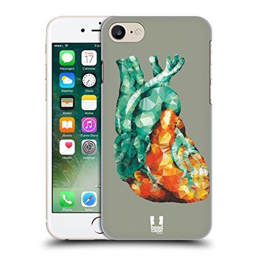 Head Case Designs Cuore Di Cristallo Anatomia A Poligoni Cover Retro Rigida per Apple iPhone 7 / iPhone 8