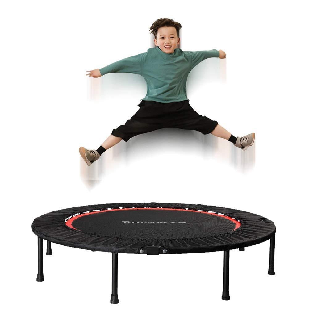 トランポリン 大人のための屋内小型トランポリン、子供のための運動適性 - 小さい貯蔵のためのばねカバーそして折る足 - 40インチ   B07Q72NG7Y