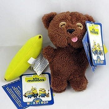 Build A Bear Minions Tim Teddy Bear 6in. Plush (Baby Bob's Toy) and Kevin Minion 5in. Plush Banana Mini Accessories