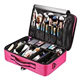 Royal Brands Travel Makeup Case, Hobby Organizer Professional Cosmetic Makeup Bag Organizer Accessories Case Tools (Medium (13.5x4x9), Pink)