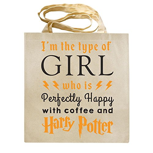 Shoulder T Coffee TOTE POTTER Shaw Shirts® with Girl BAG Shopper HARRY and Who Type Perfectly Reusable Fangirl Is Happy Bag of I'm The Canvas wq7aBx6zTT