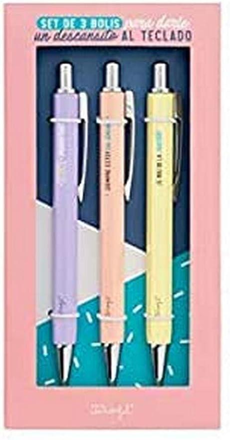 Mr. Wonderful Set de 3 Bolis para darle un descansillo, Multicolor, Talla Única: Amazon.es: Hogar