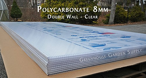 (Polycarbonate Greenhouse Cover 8mm - Clear 48