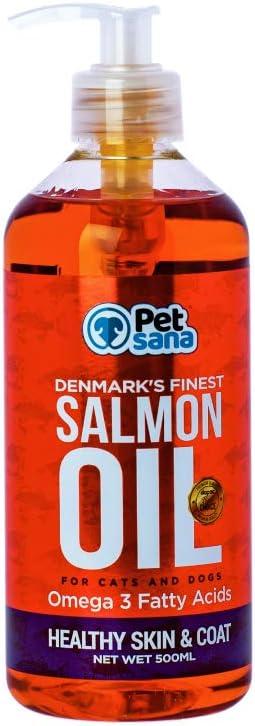 Rc Ocio Aceite de Salmon para Perros y Gatos 500 ml Omega 3 y 6 Perro y Gato | vitaminas Perro EPA/DHA | Alergias cutáneas | Mejora el Pelo | Articulaciones | Sistema inmunológico