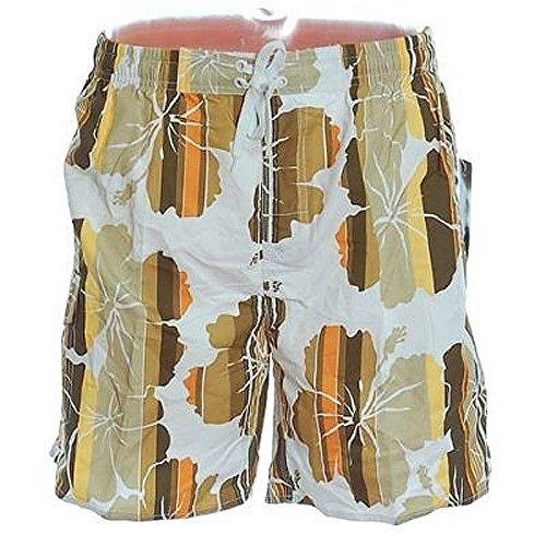 SHIWI Badeshorts Shorts Badehose Boardshorts in weiß bedruckt