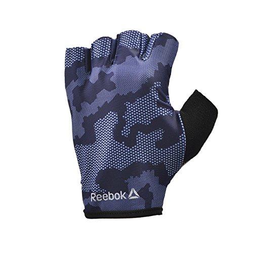 Reebok 12332CM Fitness Gloves, Mens, Fitness, Violet - Camouflage, FR : S...