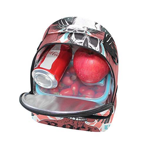 ajustable FOLPPLY para el correa el térmica con musical Bolsa para calavera almuerzo hombro diseño de SrSPq4gn