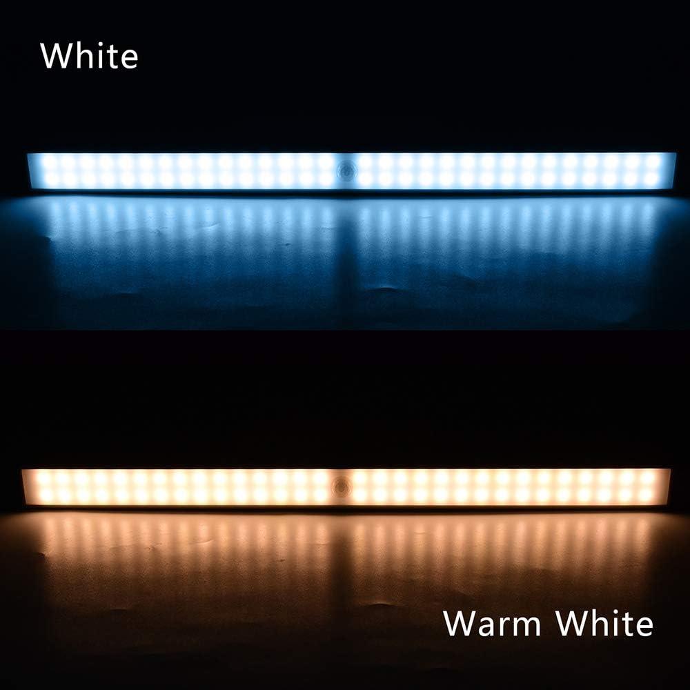 Luces para Armarios // Cocina // Escalera // Garaje // Emergencias // Pasillo Luz LED con Sensor de Movimiento 2 Piezas Luz Armario 160 LED con Tira Magn/ética Recargable Luz LED Adhesiva