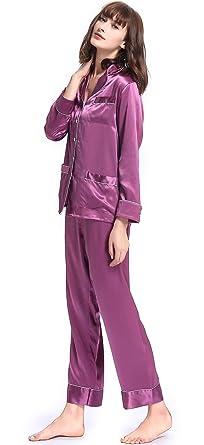 43dc0b89e2c6f1 LilySilk Schick Seide Schlafanzug Hausanzug Seide Pyjama Set ...