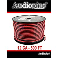 Audiopipe 500 Feet 12 Gauge Red Black Speaker Wire Home Car Zip Cord Cable