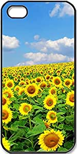 iPhone 5/5s Case sunflower-Field Case for Black iPhone 5 iPhone 5s