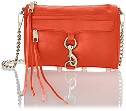 Rebecca Minkoff Mini MAC Convertible Cross-Body Bag,Hot Orange,One Size