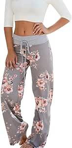SMILEQ Pantalones para Mujer Pantalones cómodos con Estampado ...