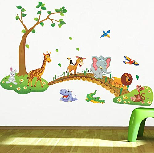 A fine Gift Children's Room Decoration Cartoon Animal Wall Sticker