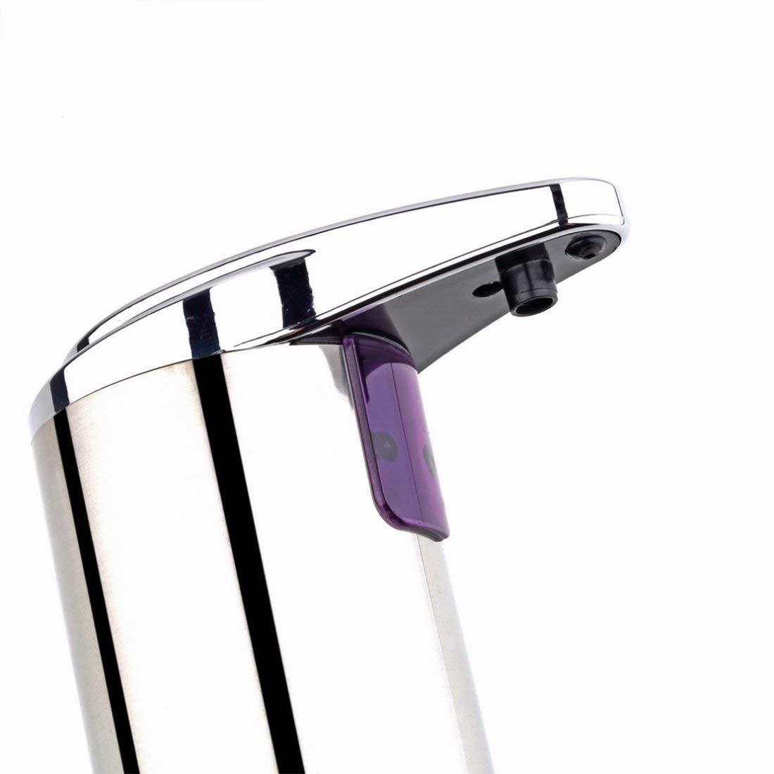 実用ソープディスペンサー * 250ミリリットル自動センサーソープディスペンサーベース壁掛けステンレス鋼タッチ消毒ディスペンサー用キッチン浴室 B07SRYVTHG
