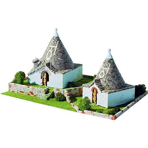Maquette en céramique - Trulli Pugliesi, Alberobello, Italie