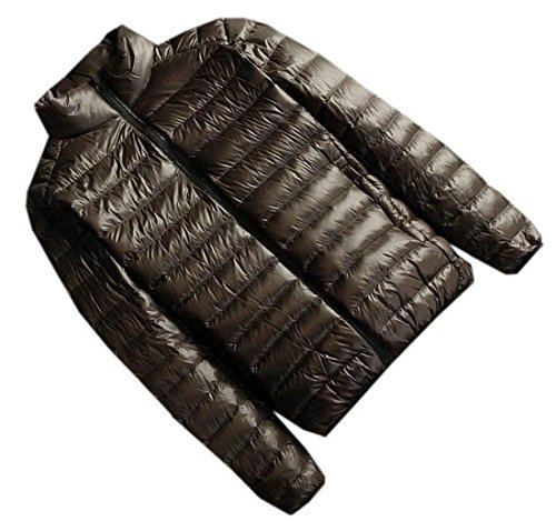 EKU Mens Fashion Lightweight Down Jacket Oversize Coats L army green