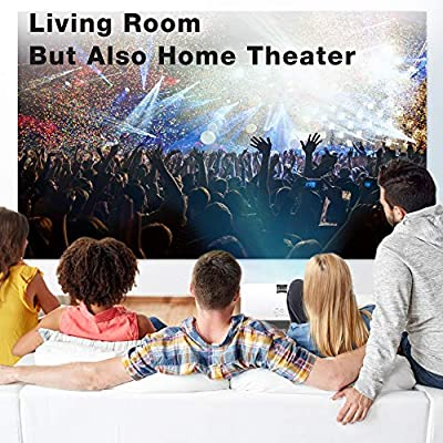 "Mini Projector - 1080P Portable Video Projector Supported 176"" Display, 2400Lux, 50,000 Hours Led, Compatible W/TV Stick/HDMI/VGA/USB/TV/Box/Laptop/DVD/PS4/Wii for Home Theater, Game&Presentation"