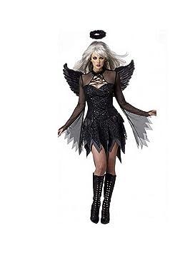 GBYAY Disfraz de Cosplay del Diablo Negro de Halloween para Mujer ...