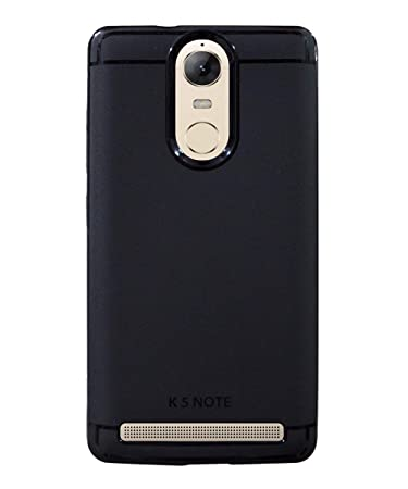 COVERNEW Rubber Soft Back Cover for Lenovo Vibe K5 Note   A7020a48   Black Cases   Covers