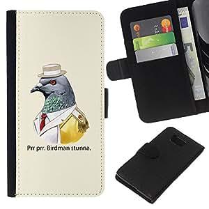 All Phone Most Case / Oferta Especial Cáscara Funda de cuero Monedero Cubierta de proteccion Caso / Wallet Case for Samsung ALPHA G850 // Funny Birdman