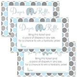 Baby : Elephant Baby Shower Diaper Raffle Invitation Insert Card Set of 25