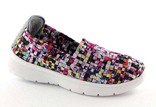 Sc1917 Elasticizzata Scarpe Donna Grunland Multicolore On Slip Sneakers Tipp T4FXAX