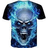Shirt for Men Plus Size Creative 3D Skull Digital