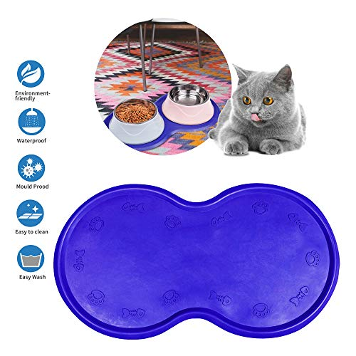 Dcxz Pet Feeding Mat Cat & Dog Mats for Food & Water – Flexible and Easy to Clean Feeding Mat – Non-Slip Waterproof…