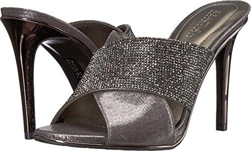 Kenneth Cole REACTION Women's Look Beyond 2 High Heel Cross Band Upper Heeled Sandal, Pewter, 6.5 M US -