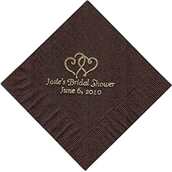 Rush 24 Hour Processing 100 Printed Personalized Beverage Cocktail Party Napkins With Express Shipping
