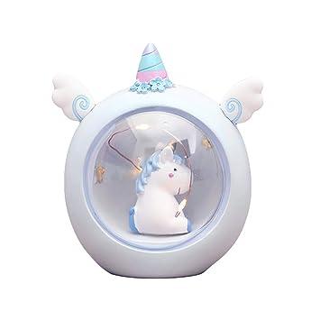IMIKEYA - Lámpara Nocturna con diseño de Unicornio, Elegante ...