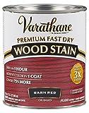 Rust-Oleum 307414 Premium Fast Dry Wood Stain, 32 oz, Barn Red