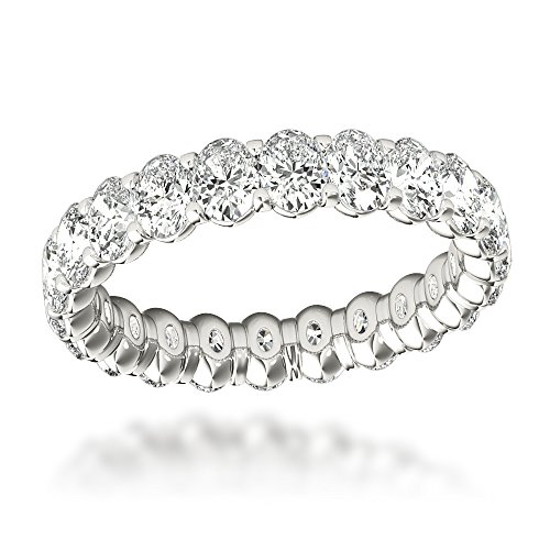 Ladies 18K Gold Oval Cut Diamo
