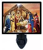 Christmas Night Light - Nativity Collage - Religious Holy Family - LED NIGHT LIGHT