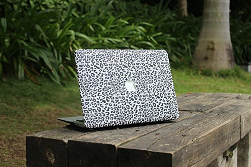Overfly Macbook Case,Leopard Designed Leather Hard Cover for Macbook Retina 12 '' Inch Laptop Computer with Keyboard Skin and Screen Protector