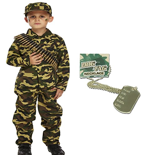 Army Fancy Dress - GUBA Army BOY Kids Soldier Camouflage
